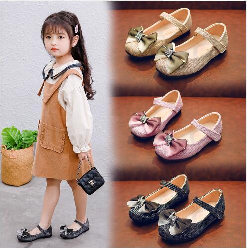 2020 novo best-seller menina e sapatos infantis fabricantes atacado estudante única princesa das crianças na dança sapatos grandes para crianças