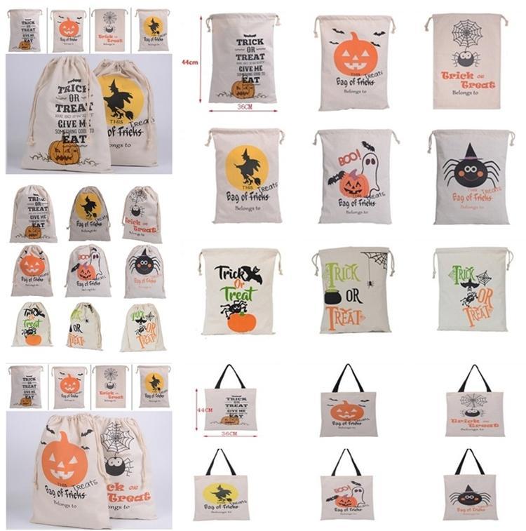 Hot Halloween malas Party Supplies lona Doces Sacos 15 estilos cordão dom saco de lona de Santa Sack material Sacks bolsas de lona para o Halloween
