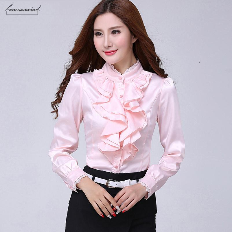 Blouse Shirt Women Fashion Blouses Casual Solid Elegant Shirts Ruffled Collar Office Female Clothing Spring Cheap Clothes China