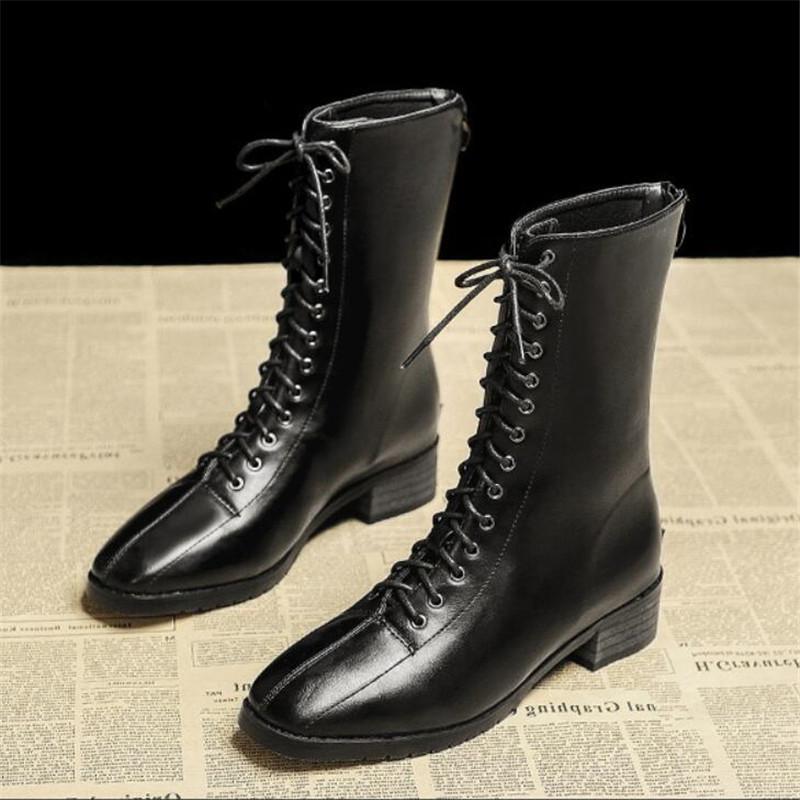 عالية الجودة المشاهير مثير الإنترنت نفس الفقرة المرأة الأوسط اسطوانة مارتن الأحذية أحذية وHiver Bottines فام 35-40