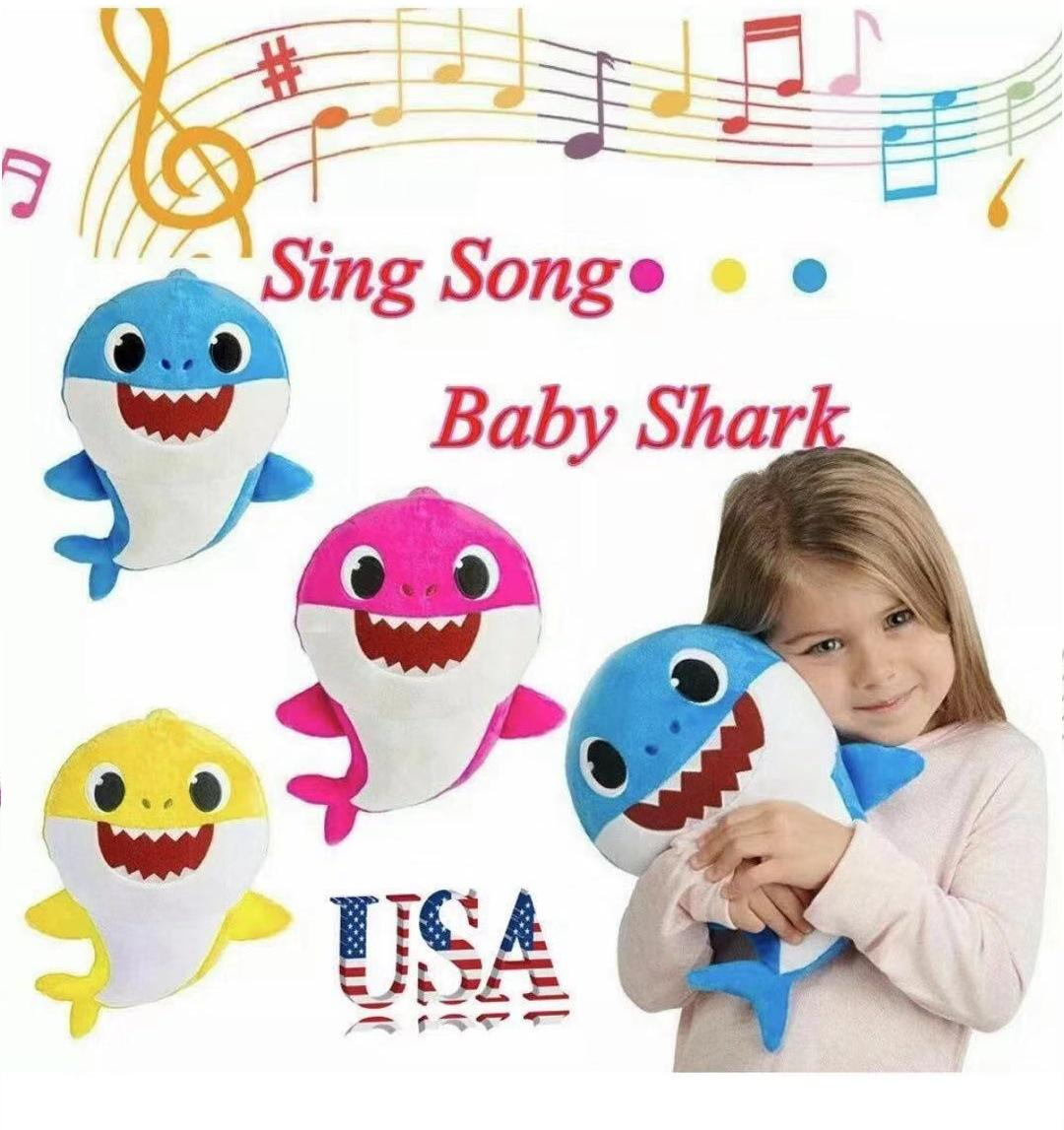 New Baby Shark Plush Singing Plush Toys Music Doll English Song Toy Gift