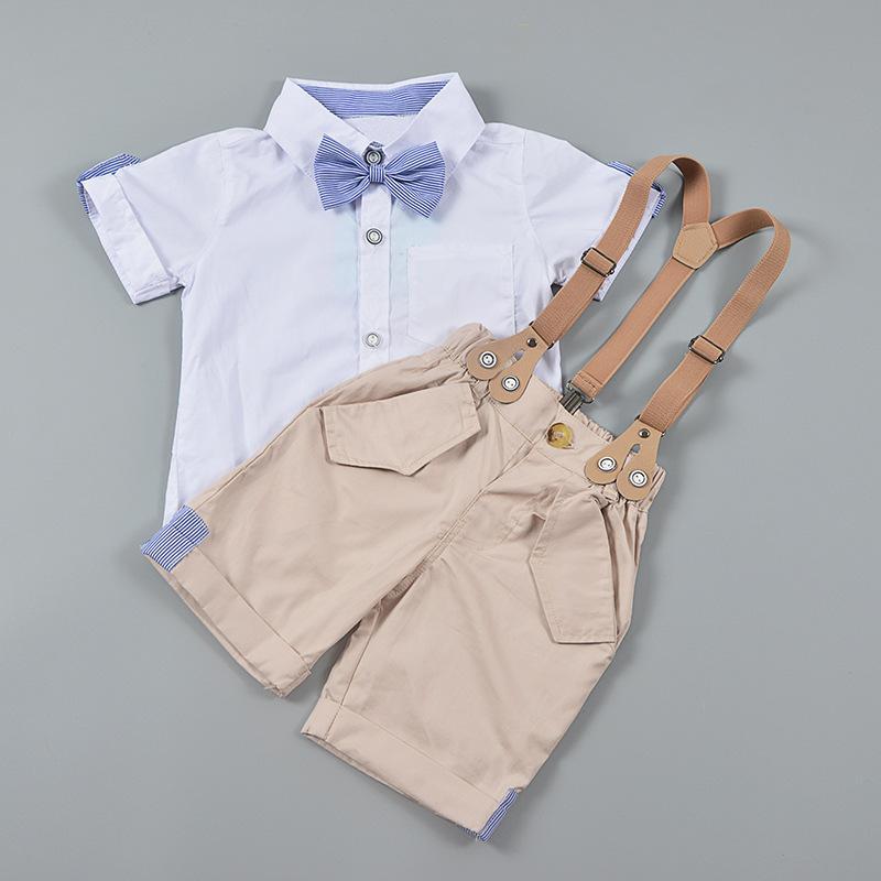 2019 الاطفال ملابس الطفل الأولاد الأطفال طفل قميص الحمالات 2 قطع مجموعة السراويل الملابس تتسابق الصيف الرضع الترفيه شهم دعوى