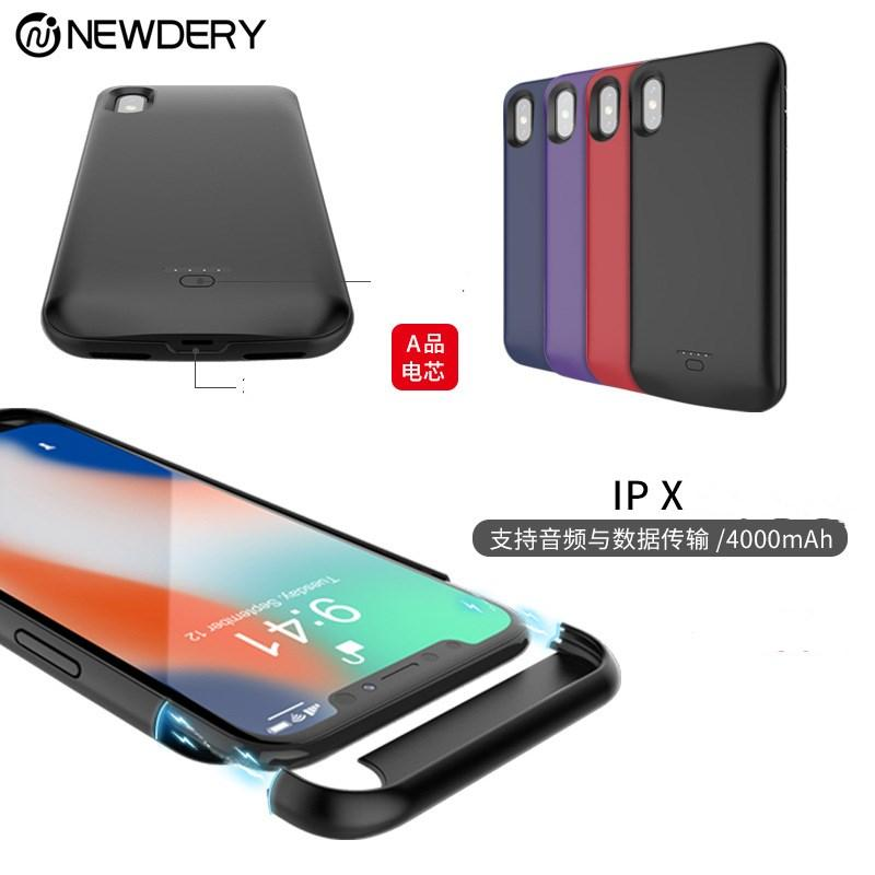 ربح جديد للآيفون X البطارية مقطع الغطاء الخلفي أعلى المغناطيسي لأبل XS الهاتف المحمول حالة الشحن