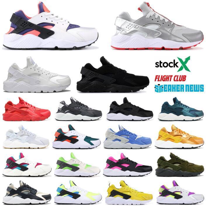 عالية الجودة الرجال النساء Huarache الاحذية الأسود أحذية رياضية Huarach 4 مدربين huraches أحذية الرياضة 36-45 مع صندوق