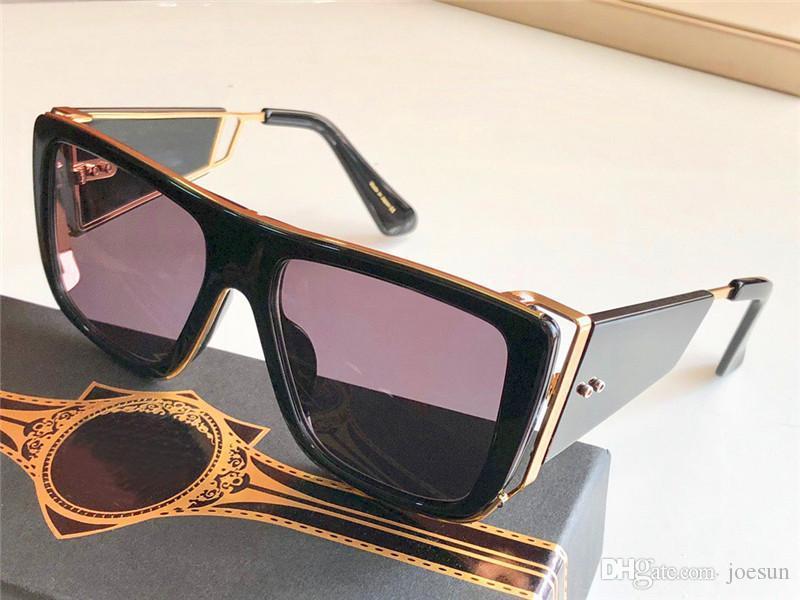 New sunglasses men design retro sunglasses SOULINER series style square half frame UV protection 400 lens outdoor protective eyewear