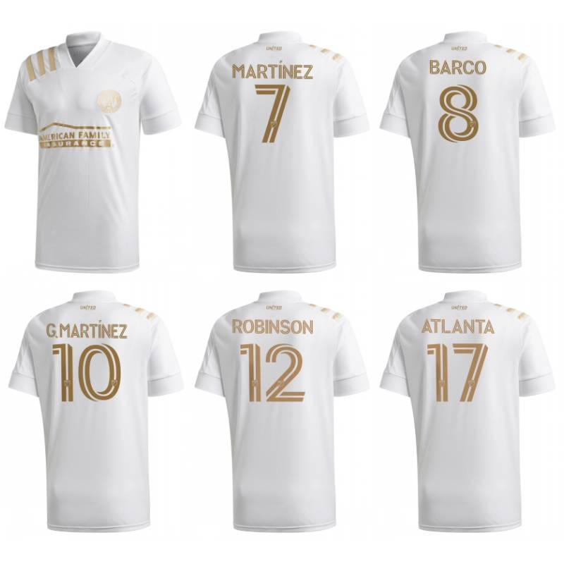 2020 Atlanta United FC Soccer Jersey MLS # 7 MARTINEZ MEZA ROBINSON Uniforme Mens # 16 Hyndman G.MARTINEZ BARCO Football Shirt