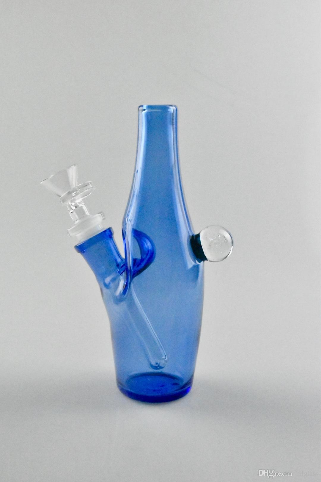 Стеклянный кальян, синяя плоскодонная курительная труба, заводские прямые ценовые уступки