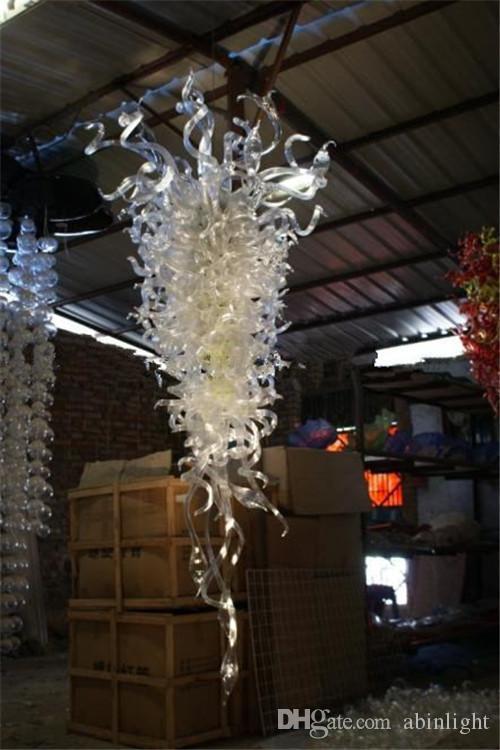 Große Größe Reiniger Kronleuchter Elegantes Hotel Moderne Hand Geblasenes großes zeitgenössisches Murano-Glas hängende Beleuchtung