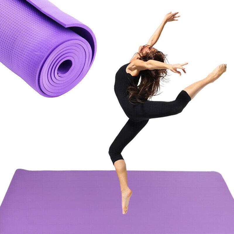 6mm Principiante gruesa para no Yoga Ejercicio Slip Mat Yoga Mats Gym Fitness Pilates Physio espuma camping