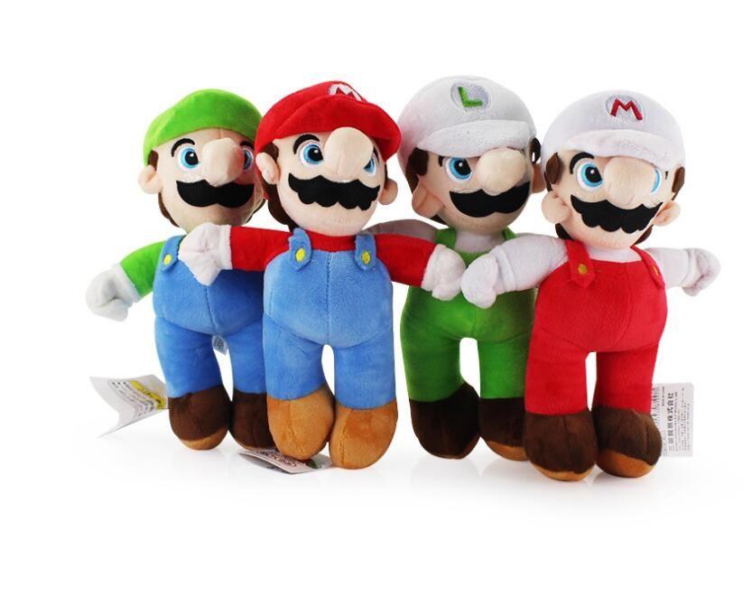 25cm Super Mario Bros Luigi Plush Toys Super Mario Stand Mario Brother Stuffed Toys Soft Dolls Gift For Children High Quality