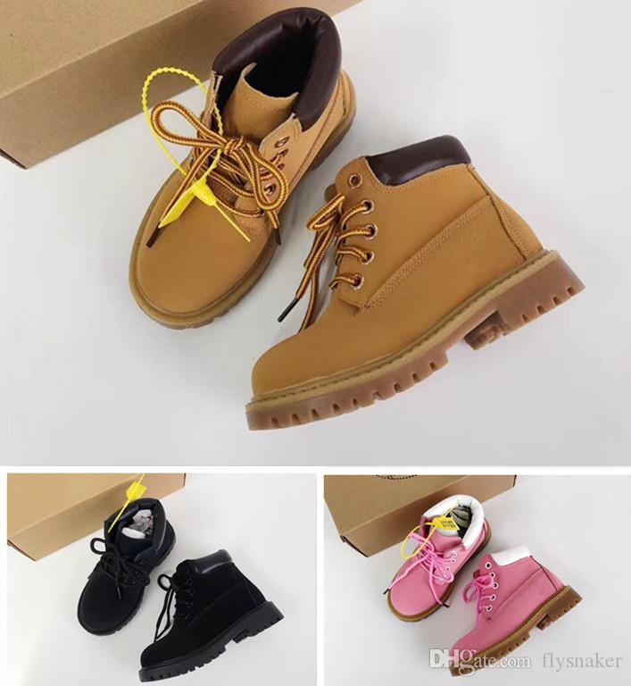 2020 Botas enfants sport sneakers filles Casual garçons Formateurs blé noir rouge enfants bottes bébé cadeau eur 26-34