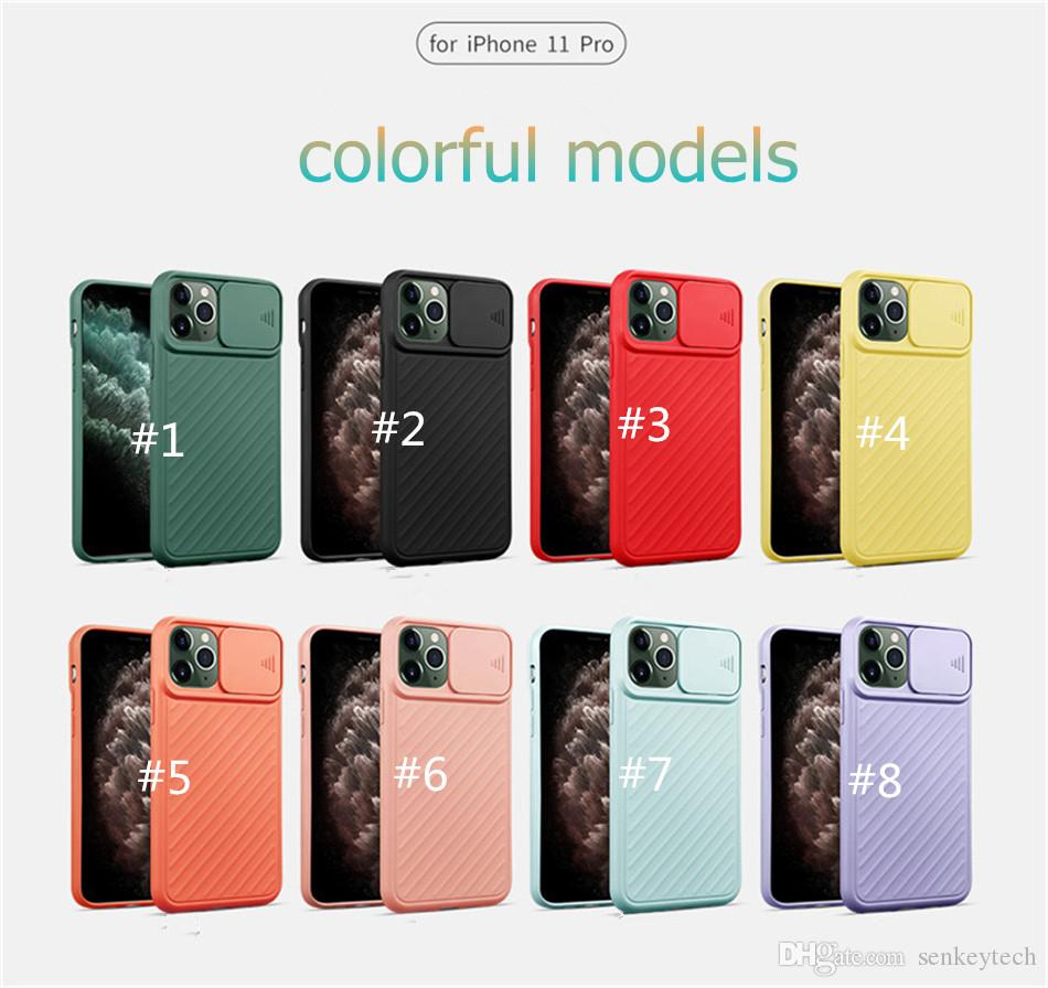 Sürgü Kamera Gizlilik Koruması Telefon Kılıfı iPhone 11 Pro XS Max X XR 6 6S 7 8 Artı Darbeye Yumuşak Silikon Kapak Coque Funda