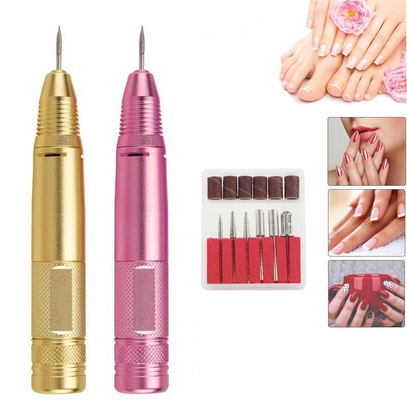 Металл Замена ручка для Electric Nail Полировальных машин, нет вибрации Прочного, Электрические пилочки Drill Kit Личных