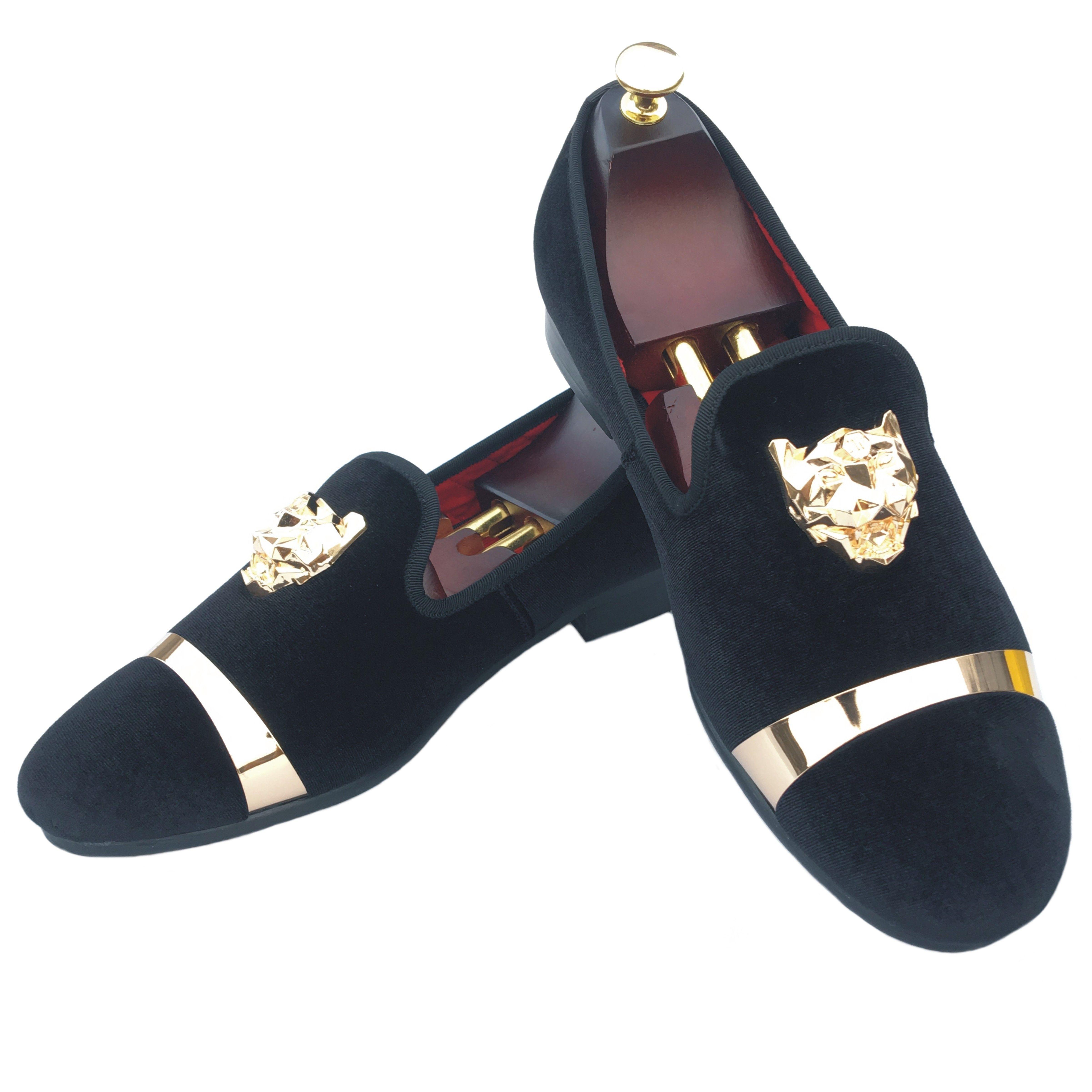 black mens velvet loafers