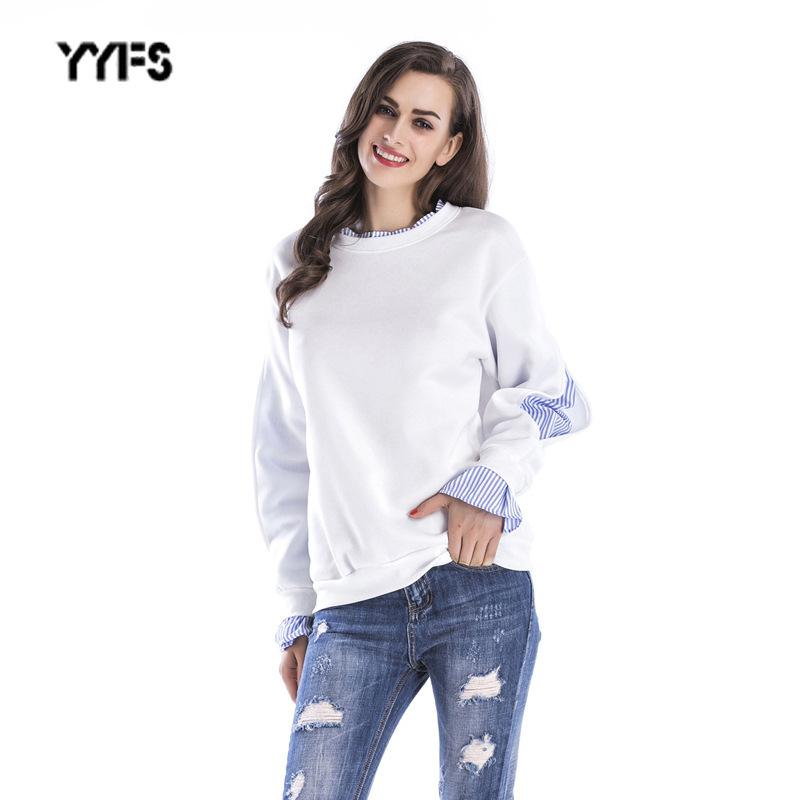 Primavera y otoño Falso traje de twinset Suéter de colegiala Mujer Aumentar hacia abajo Engrosamiento y lado a