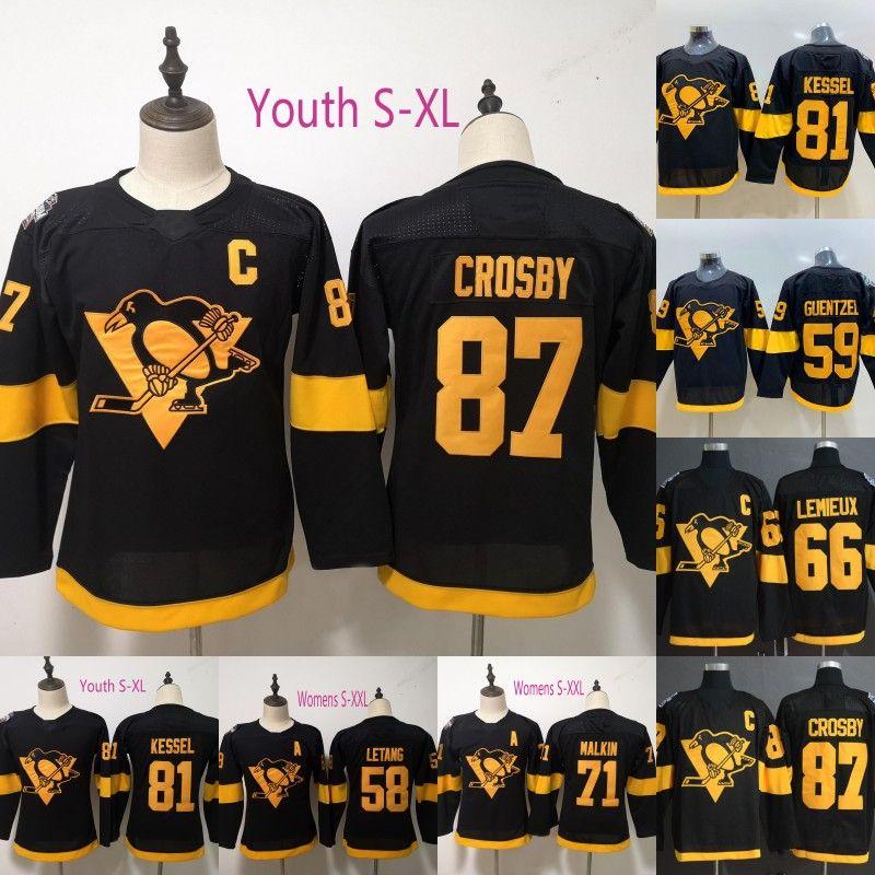 2019 Stadium Series Jerseys 58 Kris Letang 59 Jake Guentzel 66 Mario Lemieux 71 Evgeni Malkin 81 Phil Kessel 87 Sidney Crosby Hockey Jerseys