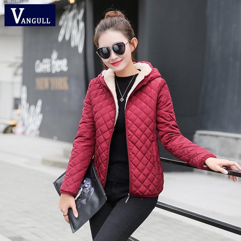 Atacado-mulheres inverno casaco de lã casaco de capuz sólida 2017 Primavera Outono outerwear fina feminina estudante curto zipper jaqueta feminina