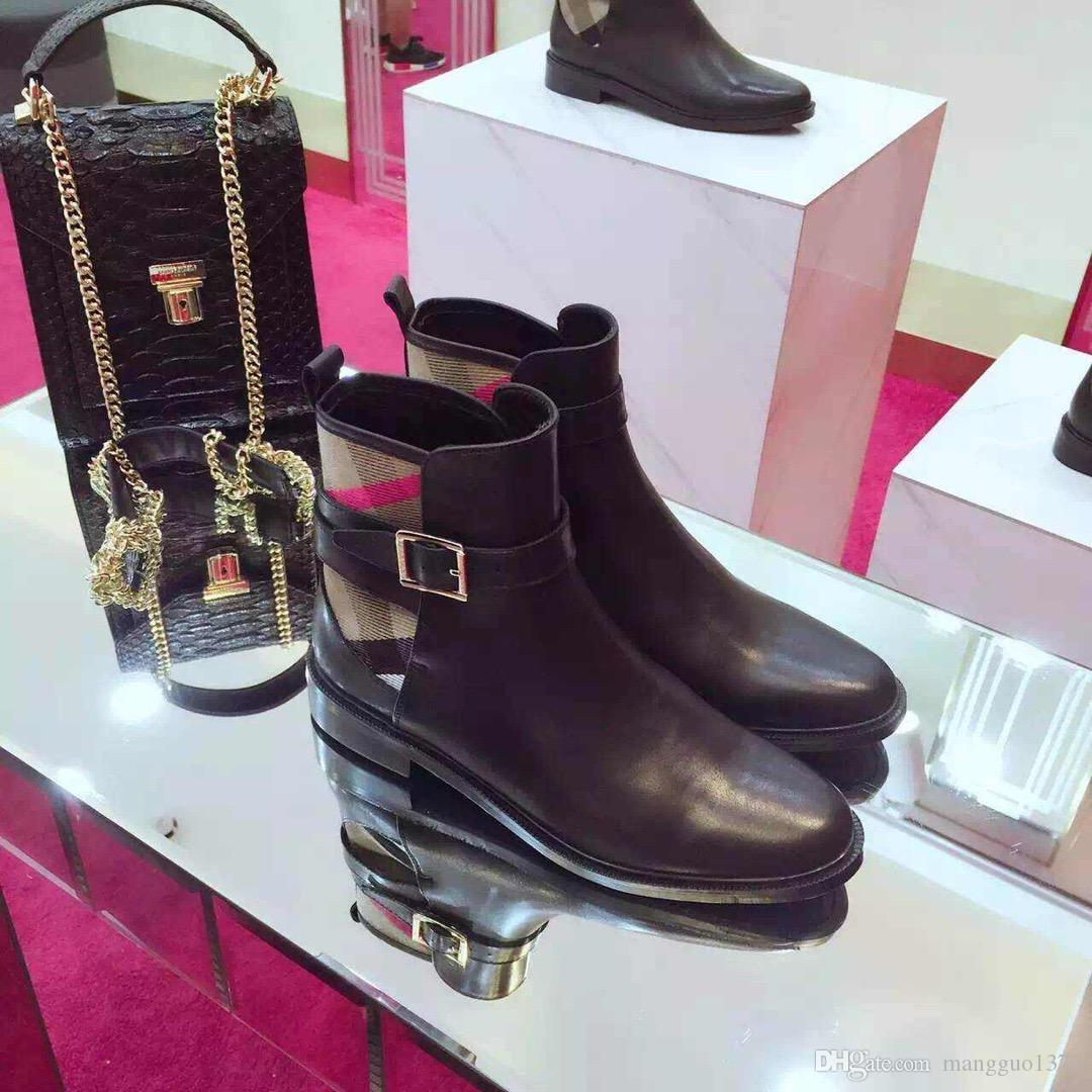 Calçados Femininos Martin botas couro botas longas de luxo sobre o joelho Coxa Mulher bota alta Shoes Moda Joelho Botas