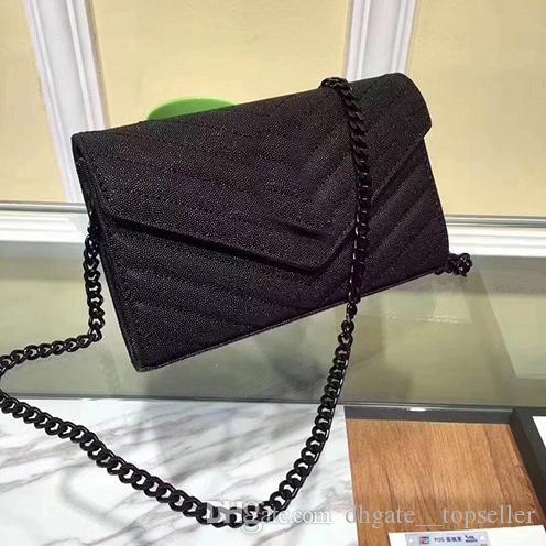 borsa a tracolla progettista donne del cuoio genuino di marca sacchetto trasversale del messaggero del corpo caviale bovina flap bag vera pelle