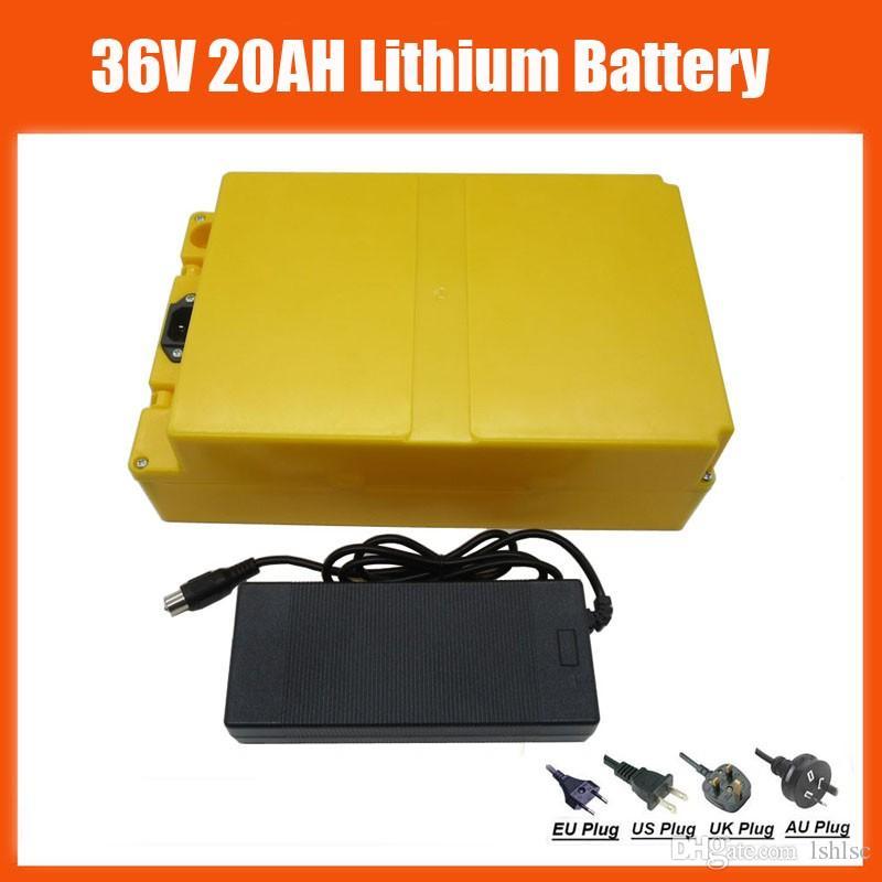 Batería de litio de alta calidad 36V 20AH Batería de litio Ebike recargable 1000W 36 V 20Ah con estuche 30A BMS 42V 2A Cargador