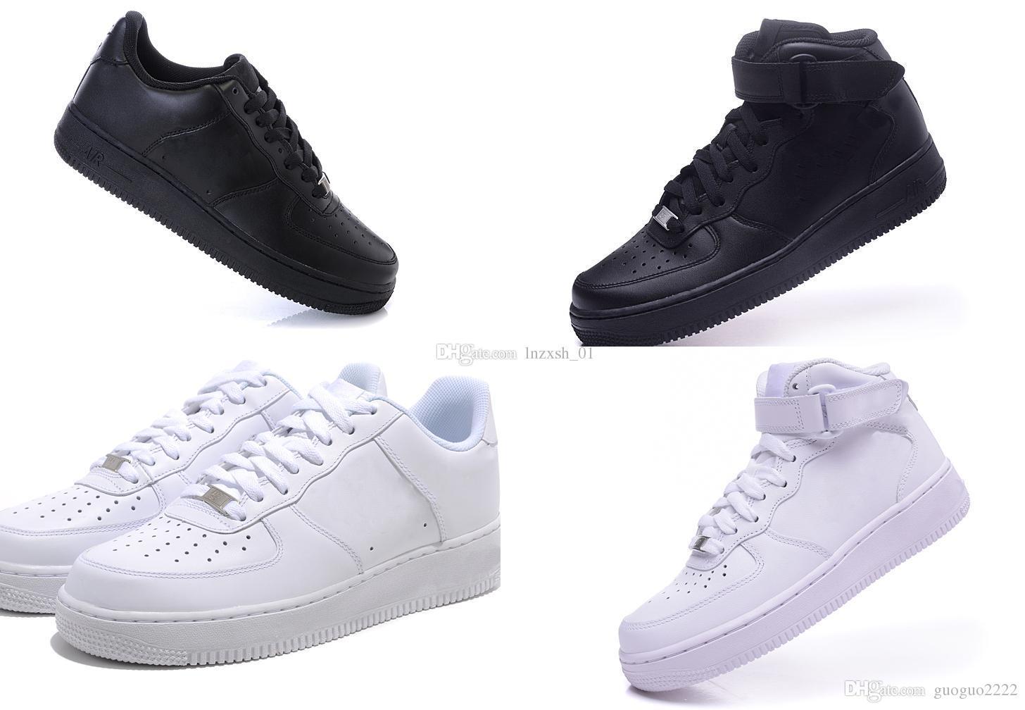 YENI GELMESI Beyaz Siyah F1 bir Erkekler Kadınlar Spor rahat Ayakkabılar Unisex Airs Masaj Yüksek Düşük Düz kaykay ayakkabı açık yürüyüş shoe36-46