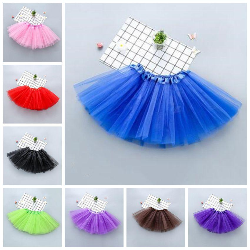 Kid Baby Girl Tutu Fluffy Skirt Princess Ballet Dancewear Party Fancy Pettiskirt
