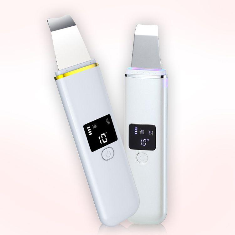 Ucuz fiyat Ultrasonik Mikro Cilt Scrubber Elektrik Yüz Ölü Cilt Yüz Temizleme Siyah Kafa Temizleyici Kürek Cilt Makinesi Güzellik Aparatı