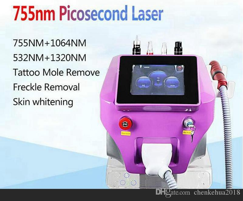Picosecond Pigment Removal Q Switch Nd Yag Picosure Laser Machine 1064nm 532nm 755mm Pico Laser Ance Removal Skin Rejuvenation Salon Clinic
