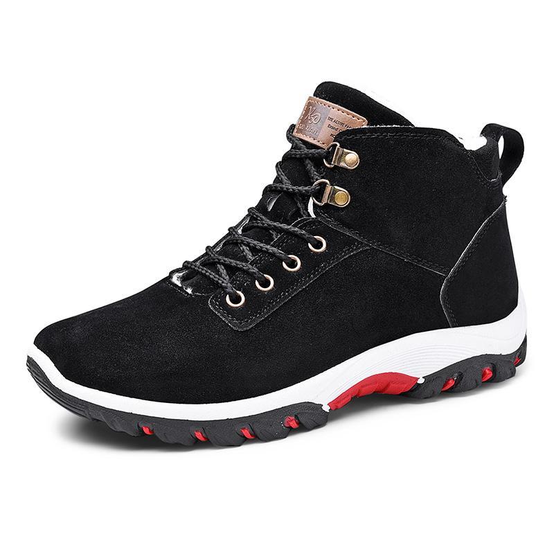 Aqueça tornozelo Inverno Neve Botas Homens Plush Quente Homens Winter Shoes Rodada Toe neve Shoes