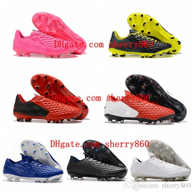 2019 mens soccer shoes Tiempo Legend VIII FG soccer cleats Under The Radar cheap football boots high quality