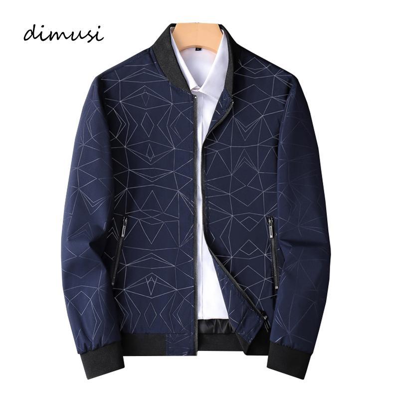 Bombardero de la cremallera de la chaqueta casual de los hombres de DIMUSI masculino Windbreaker al aire libre Slim Fit piloto béisbol abrigos para hombre de negocios chaquetas Ropa