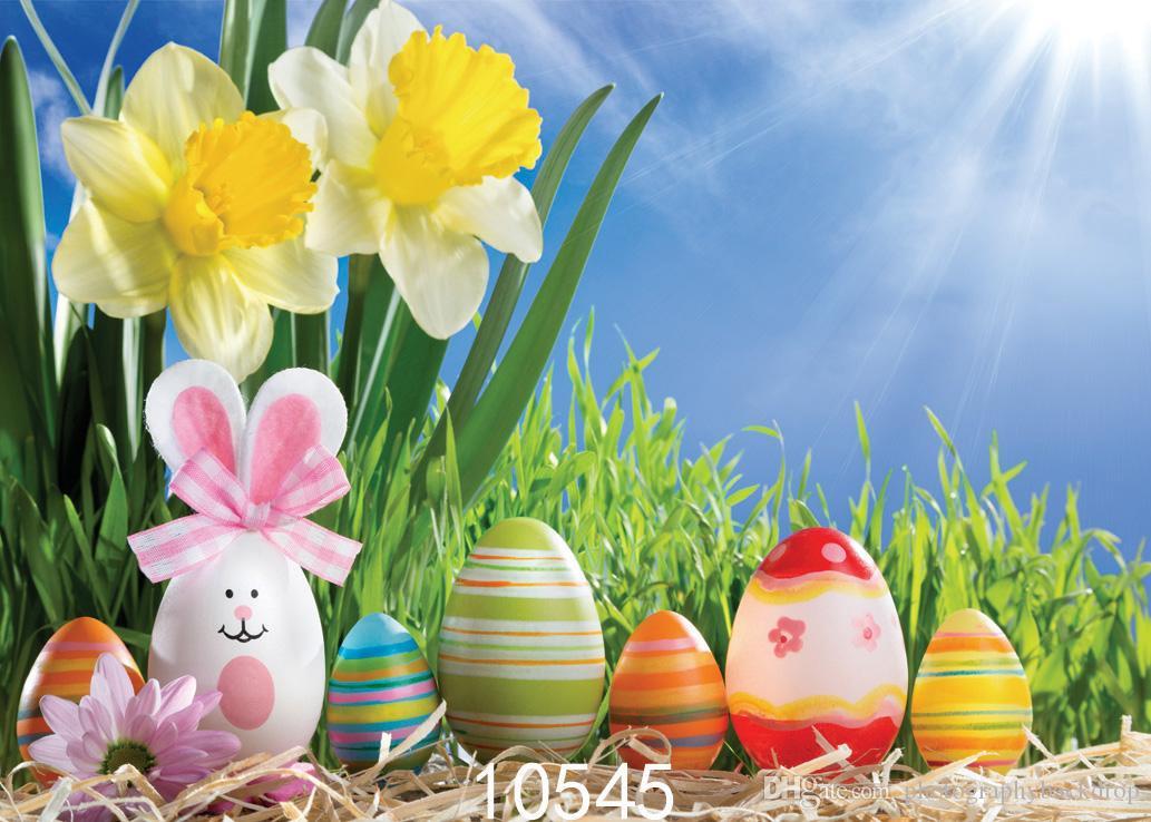 SHENGYONGBAO Fondali in vinile personalizzati Prop Prop orizzontale giorno di Pasqua Photo Studio Sfondo JLT-10545