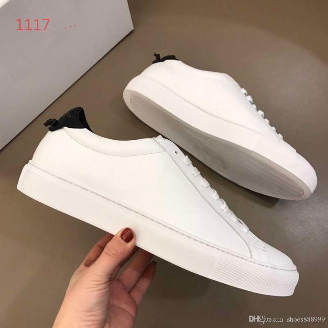 2019 Top Qualité FD Luxe designer sneaker chaussures en cuir véritable Cadeau mens Racer Vente chaude Sport casual designer sneakers B1