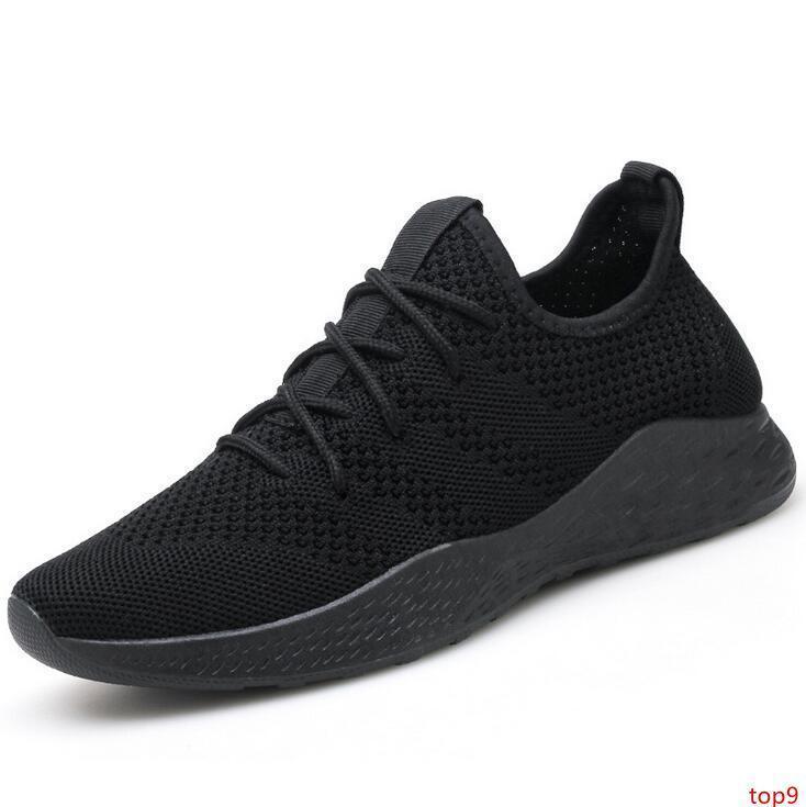2019 Grande Taille d'été nouvelle tendance légère Hommes vol tissé respirant Chaussures Casual sport étudiant Chaussures de course avec