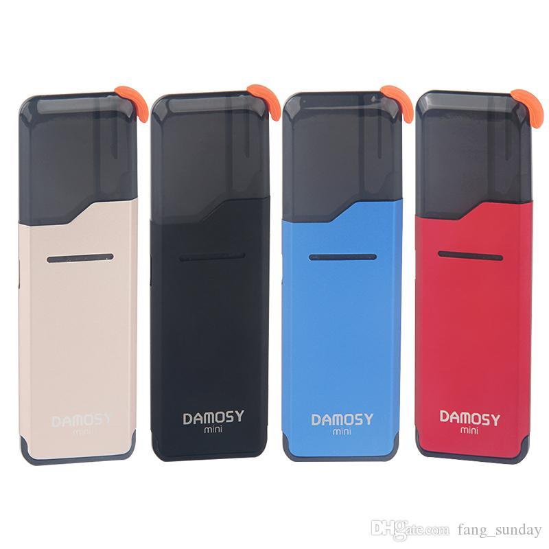 2ml Boş yağ Kartuşları Elektronik Sigara ile 400 mAh pil Taşınabilir Kapsüller sistemde En Yeni Damosy Mini ecigs Kiti Vape Kalem Bölmeler bulit