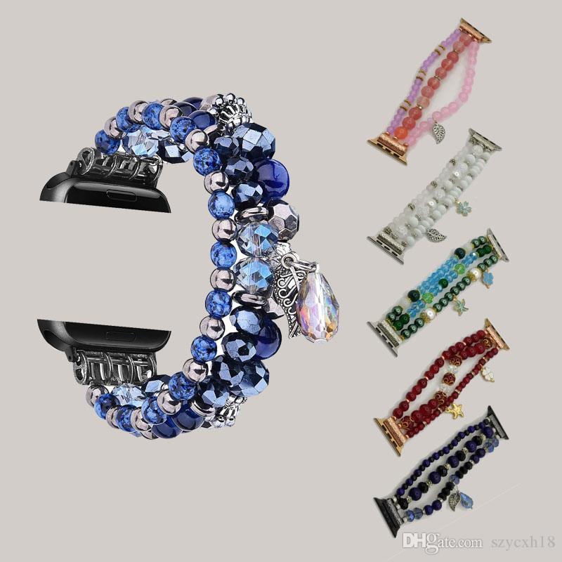 For Apple Watch bands Strap 1 2 3 4 5 Generation Crystal Jewelry Strap for iWatch5 band luxury watchband Agate Strap Fashion Bracelet