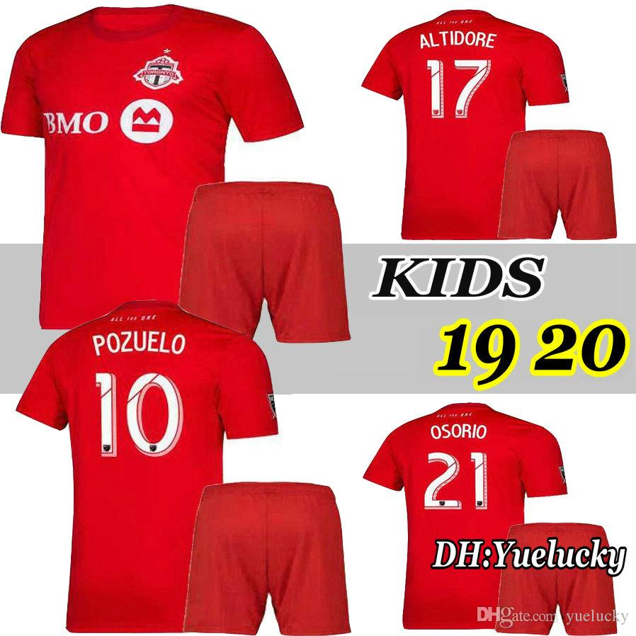 super popular 01538 caf3a 2019 19 20 Toronto FC Kids Kit Soccer Jerseys OSORIO POZUELO BRADLEY  ALTIDORE 19 20 Toronto Home Boy Child Football Shirt Uniform From Yuelucky,  ...