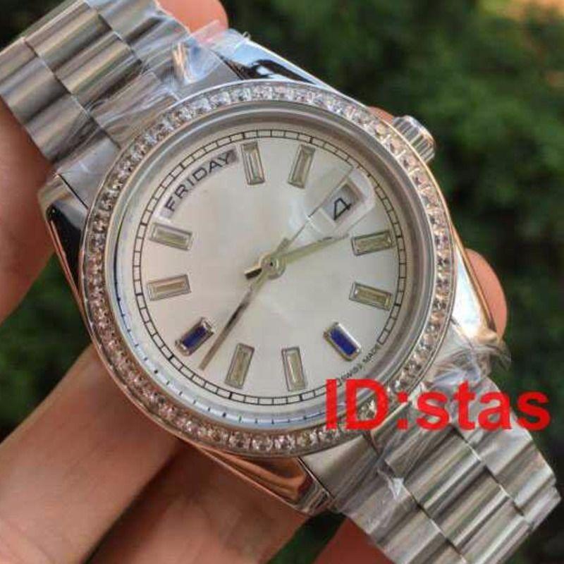 Heißer Verkaufs-neuer Edelstahl-Männer Diamanten der Männer Luxus Genf Uhrenarmband 2183 Qualitäts Mode Uhr Reloj Uhren Armbanduhren