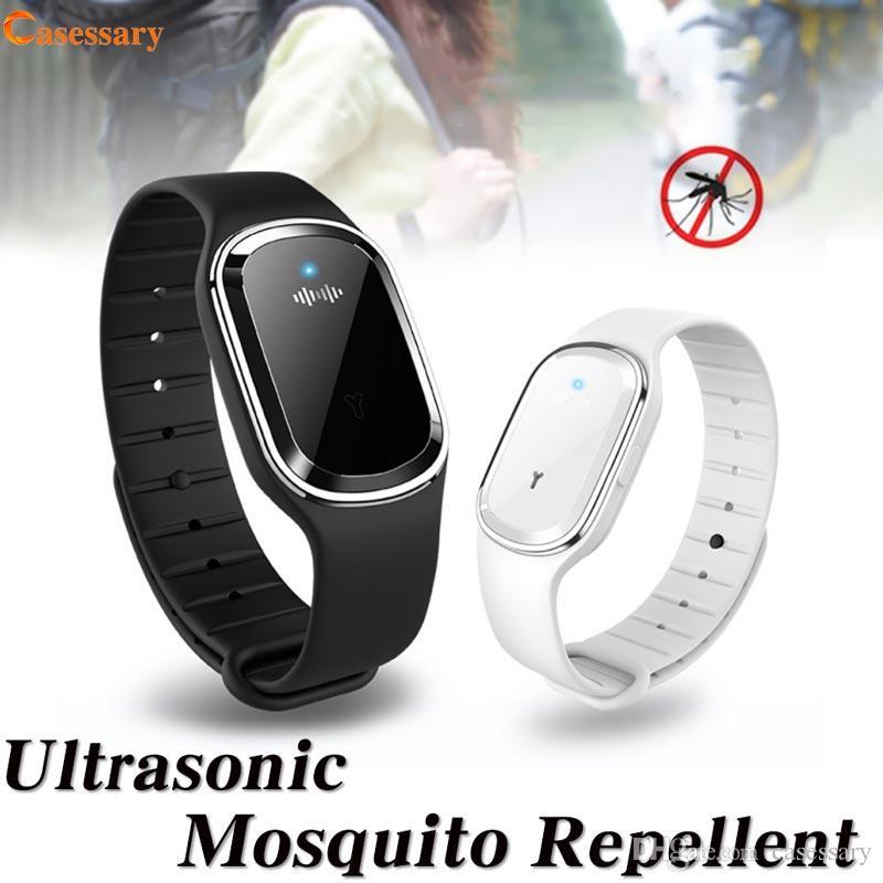 Pulsera repelente de mosquitos ultrasónica Pulsera Onda acústica completa Anti mosquitos Sin químicos Recargable inodoro Lo mejor para deportes al aire libre