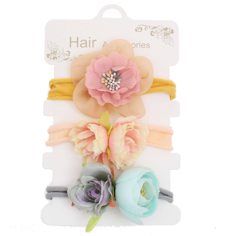 New Baby Bohemia Headband Artificial Flowers Nylon Headbands Baby girl Hair bows For Beach Holiday Hair accessories European Boutique