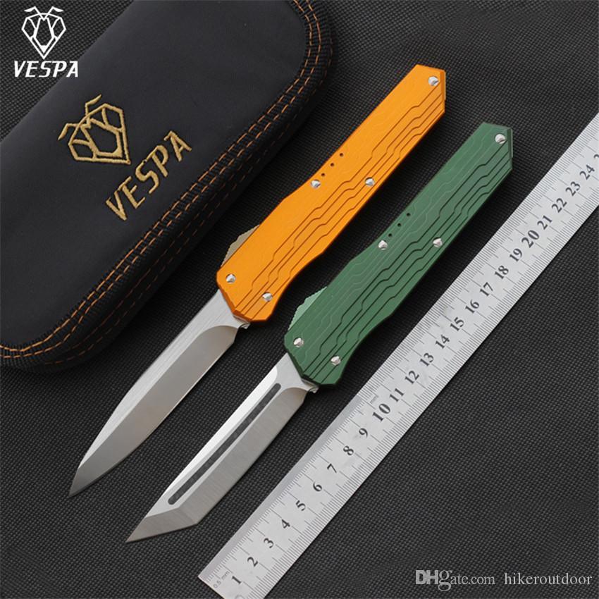 Alta qualità VESPA versione pieghevole coltello lama: M390 Maniglia: 7075Aluminum + TC4, la sopravvivenza di campeggio esterna coltelli strumento EDC, trasporto libero