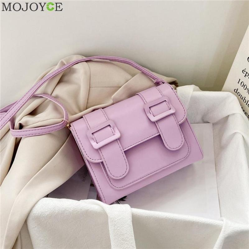 Women PU Leather Belt Buckle Travel Small Messenger Pouch Fashion Shoulder Bag Fashion Exquisite Shopping Bag