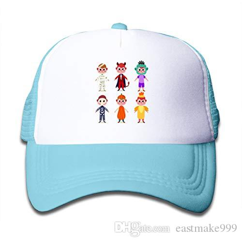 Disar-t Cute Halloween boy Cartoon Children's Net Hat Gorra de béisbol Sombreros para niños y niñas Sombreros de 3 colores