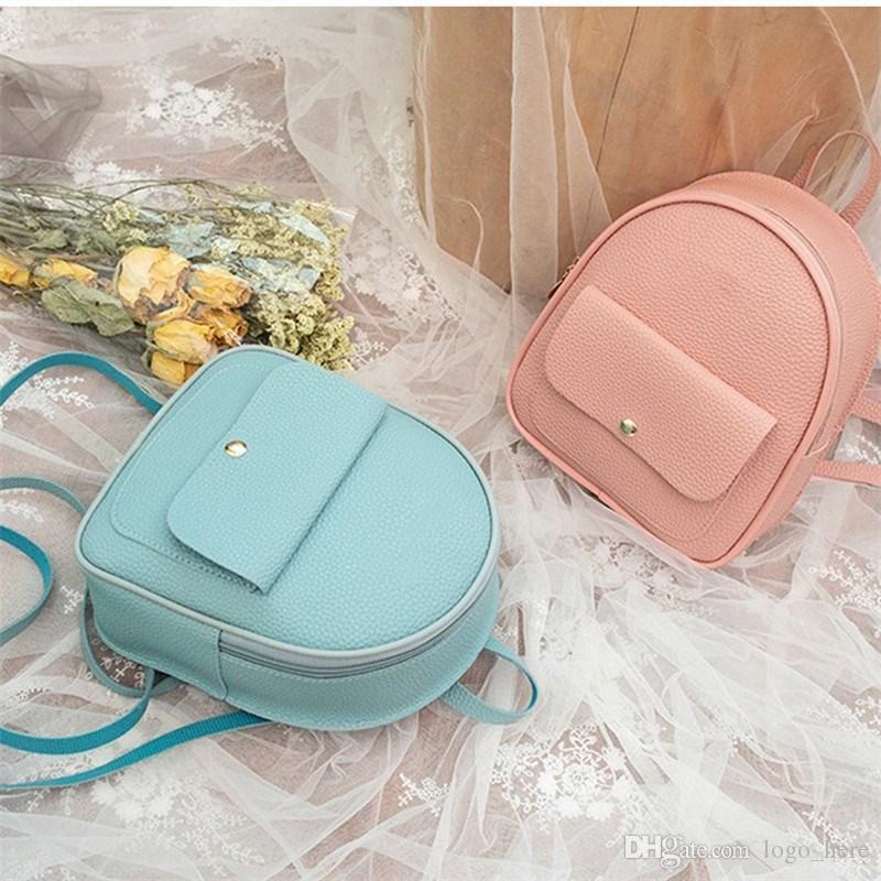 Mini sac à dos de femmes vendues en 2020 sac à bandoulière en cuir PU sac à dos école multifonctionnelles petites filles sac à dos R0844