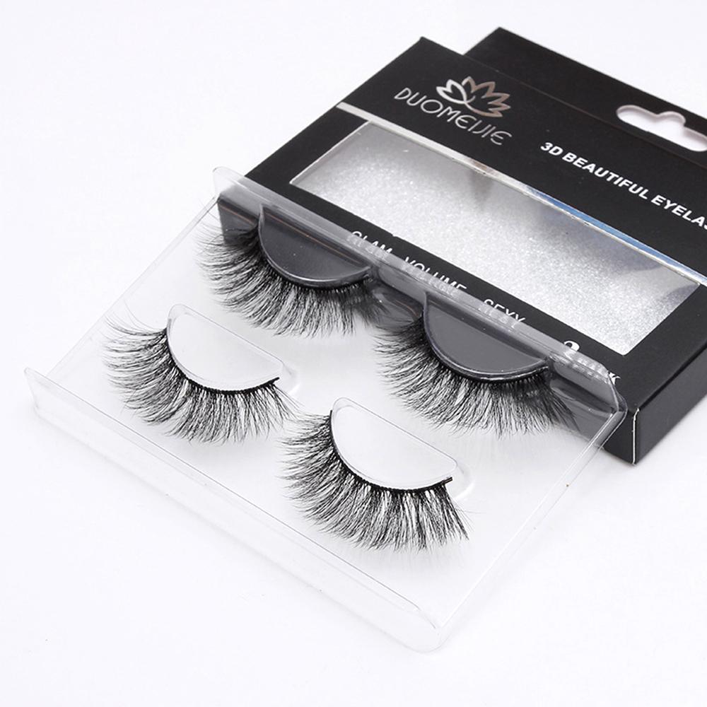 2 pares de extensión de pestañas pestañas falsas naturales 3d pestañas de ojos maquillaje de pestañas falsas largas kit wimper eye lash