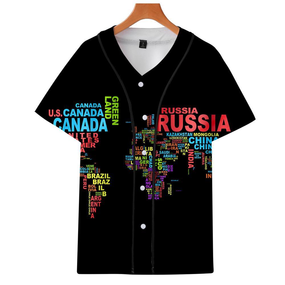 Мужские куртки 2021 3D печать Национальная тарелка и секция страны с коротким рукавом бейсбольная форма мужчин / женщин повседневная куртка