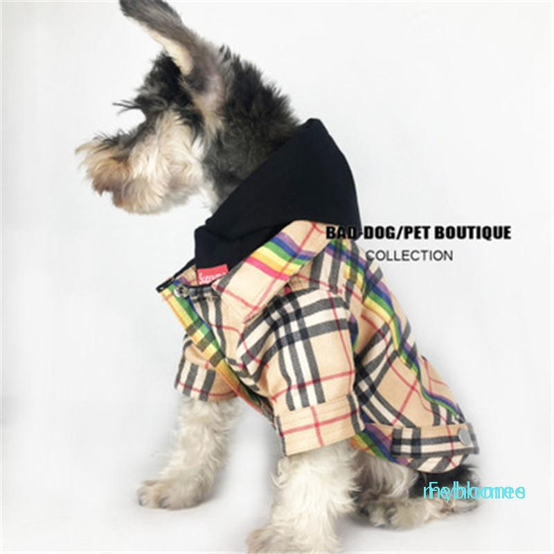 New Arrivals Autumn Winter Dog Clothes Teddy Cat Small Dog Plaid Pattern Apparel Dog Hot Sale Warm Coat Free Shipping