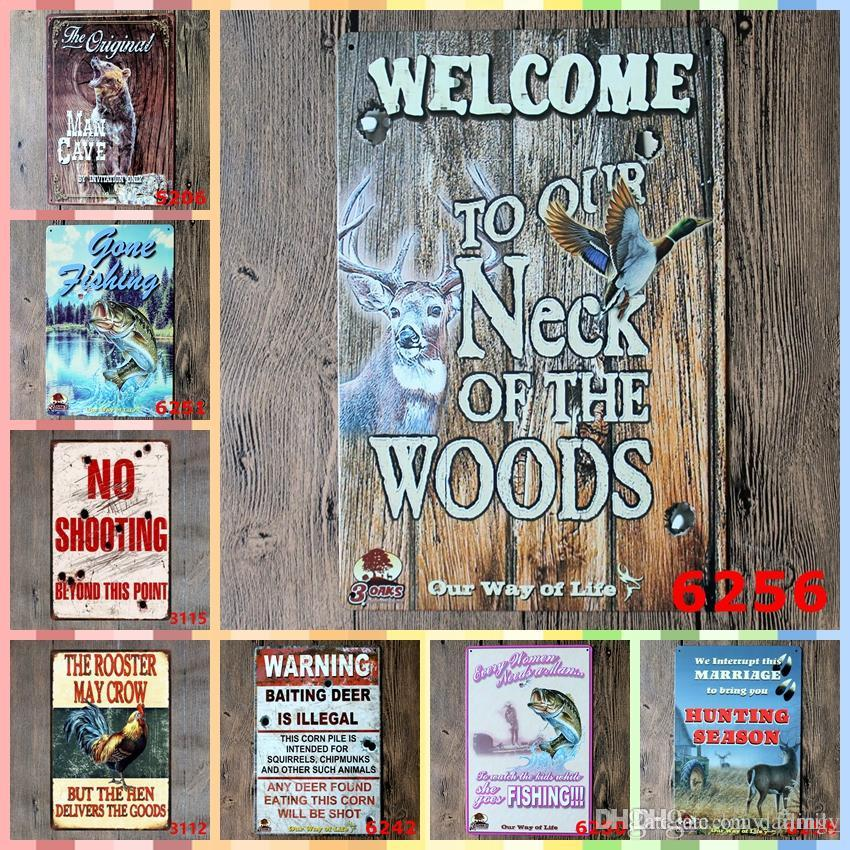 metal fish art wall decor.htm 2019 welcome to our neck of the wood 20 30cm paint metal tin signs  wood 20 30cm paint metal tin signs