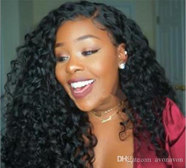 Natürliche Perücken Hitzebeständige Synthetische Perücke Afro Kinky Courly Lace Front Perücke Gluuelse Spitze Frontperücken Für Schwarze Frauen FZP121
