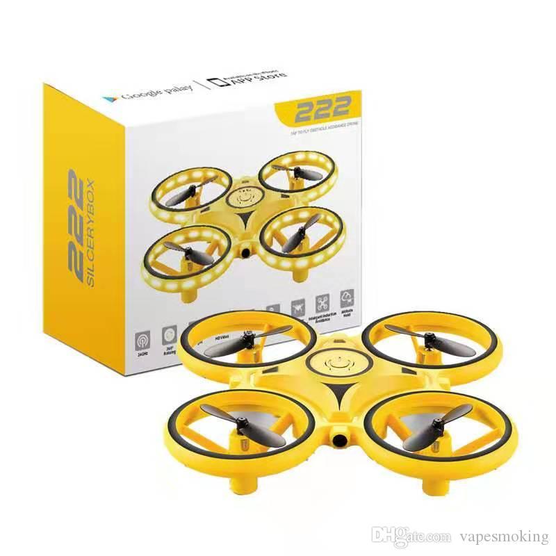 Лучшие дети подарок министр беспилотника индукционные летающие самолеты игрушка Quadcopter светодиодный свет RC интеллектуальные часы пульт дистанционного управления